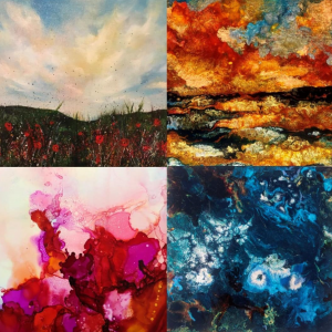 Four artworks by Katy Hands